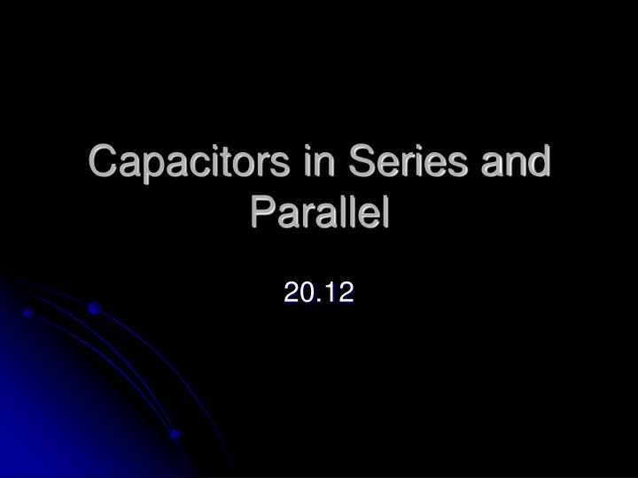 capacitors in series and parallel n.