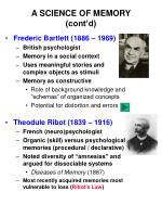 a science of memory cont d8