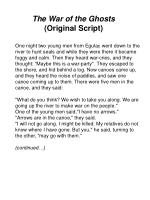 the war of the ghosts original script