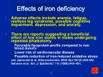 effects of iron deficiency