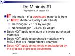 de minimis 1 regulation 5 01 section 1 6 1