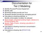 documentation for tier 2 modeling