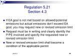 regulation 5 21 section 4 3