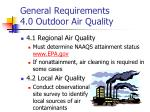 general requirements 4 0 outdoor air quality