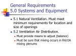 general requirements 5 0 systems and equipment