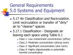 general requirements 5 0 systems and equipment11