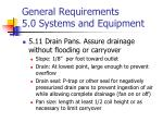 general requirements 5 0 systems and equipment6