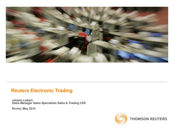 reuters electronic trading n.