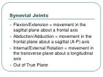 synovial joints6