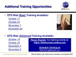 additional training opportunities1