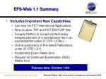efs web 1 1 summary