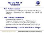 new efs web 1 1 functionality