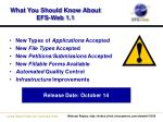 what you should know about efs web 1 1
