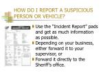 how do i report a suspicious person or vehicle