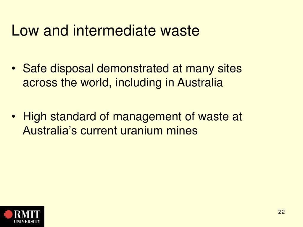 Low and intermediate waste