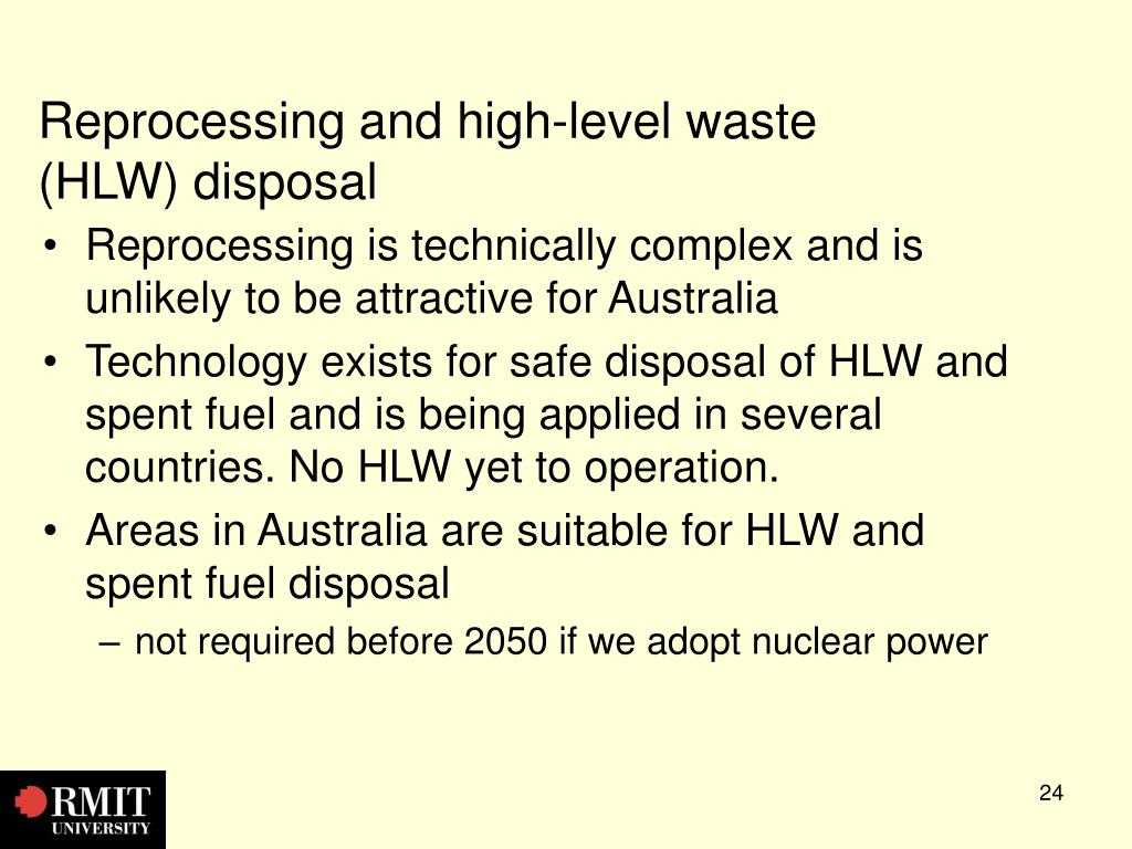 Reprocessing and high-level waste