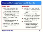 goldsmiths experience with moodle