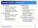 moodle choice polling tool