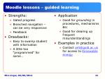 moodle lessons guided learning
