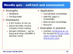 moodle quiz self test and assessment