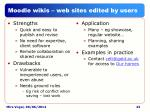 moodle wikis web sites edited by users