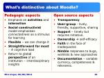 what s distinctive about moodle