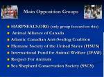 main opposition groups