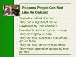 reasons people can feel like an outcast