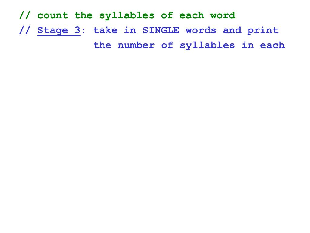 // count the syllables of each word