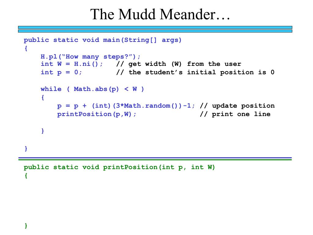The Mudd Meander…