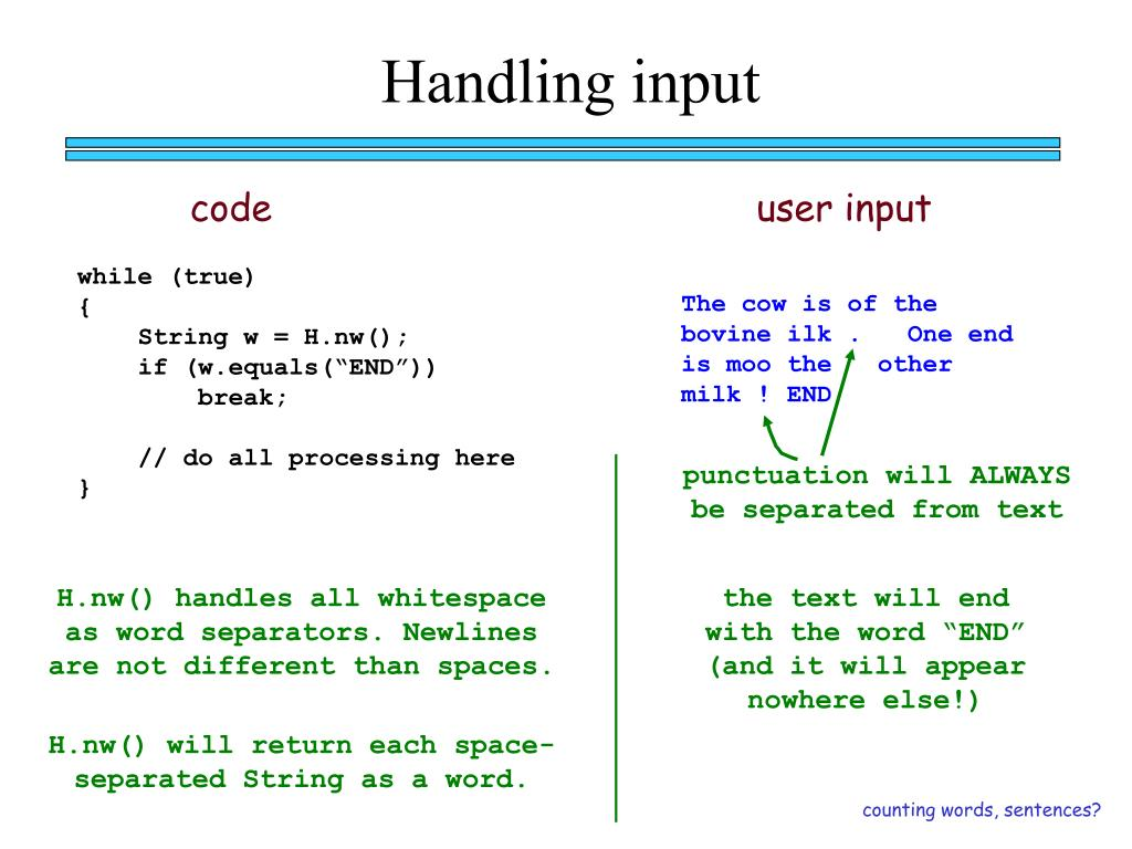 Handling input