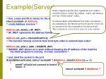 example server