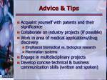 advice tips