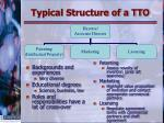 typical structure of a tto