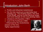 introduction john barth