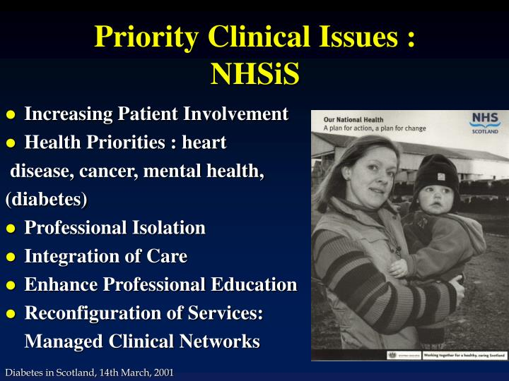 Priority clinical issues nhsis