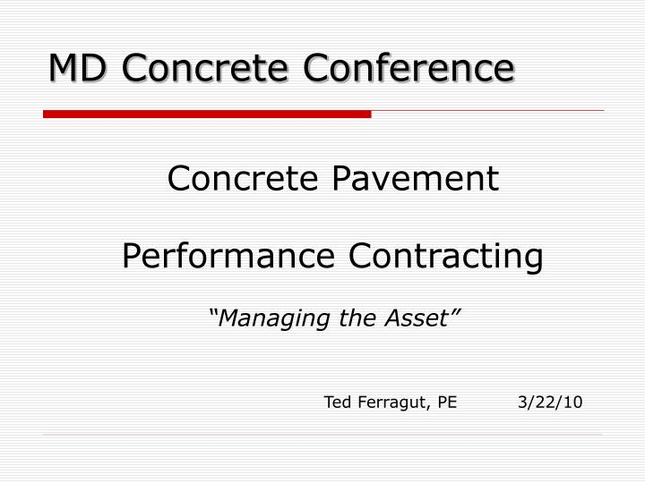 md concrete conference n.