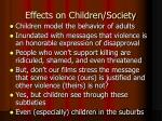 effects on children society