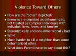 violence toward others
