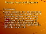therapy focus and outcome1