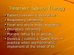 treatment speech therapy