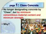 page 1 class concrete