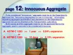 page 12 innocuous aggregate
