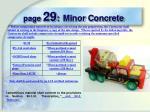 page 29 minor concrete