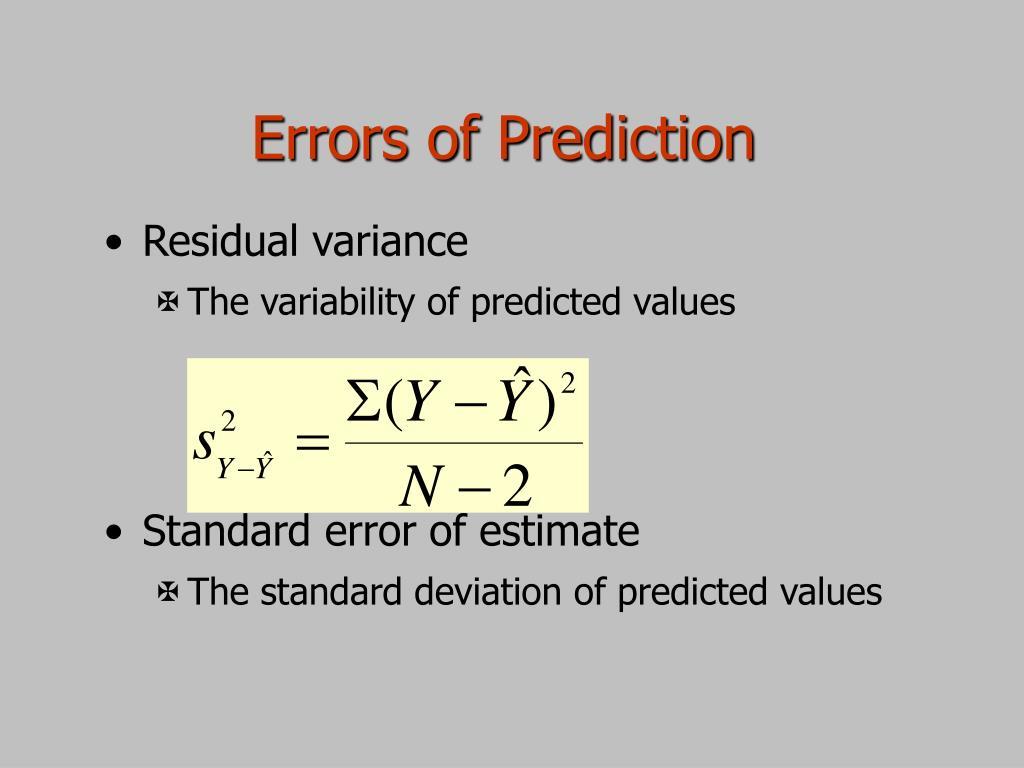 Errors of Prediction