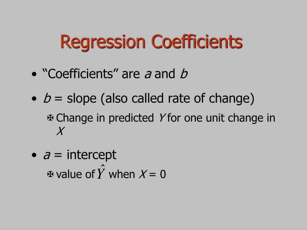 Regression Coefficients
