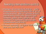 nursing interventions cont d