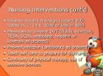 nursing interventions cont d1