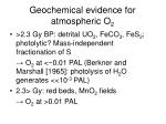 geochemical evidence for atmospheric o 2