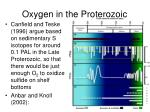 oxygen in the proterozoic